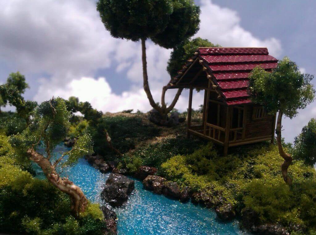 diorama sawah maket creator, maketcreator.com