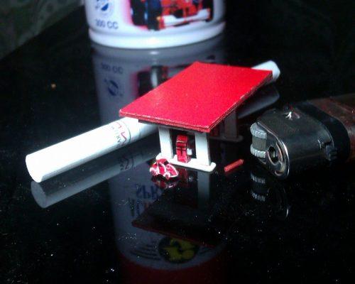die cast diorama pom bensin