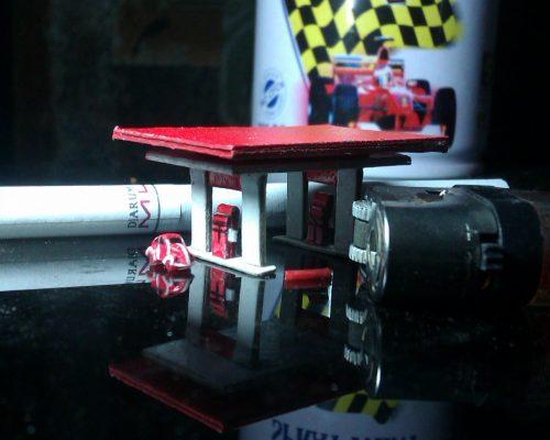 diorama pom bensin